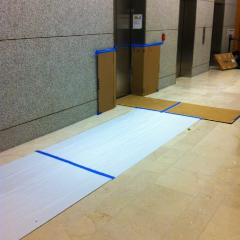 photo of cardboards at the floor