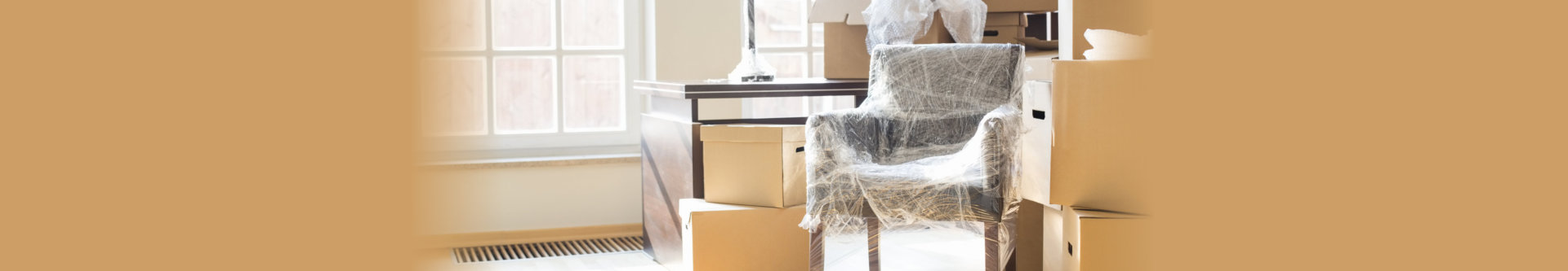 furniture wrapped up